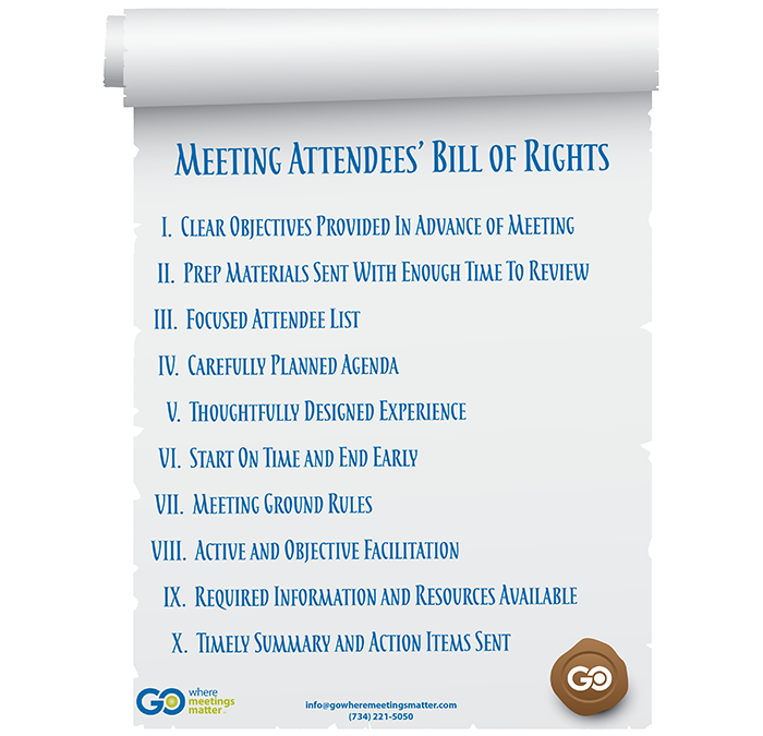 Meeting Attendees' Bill of Rights